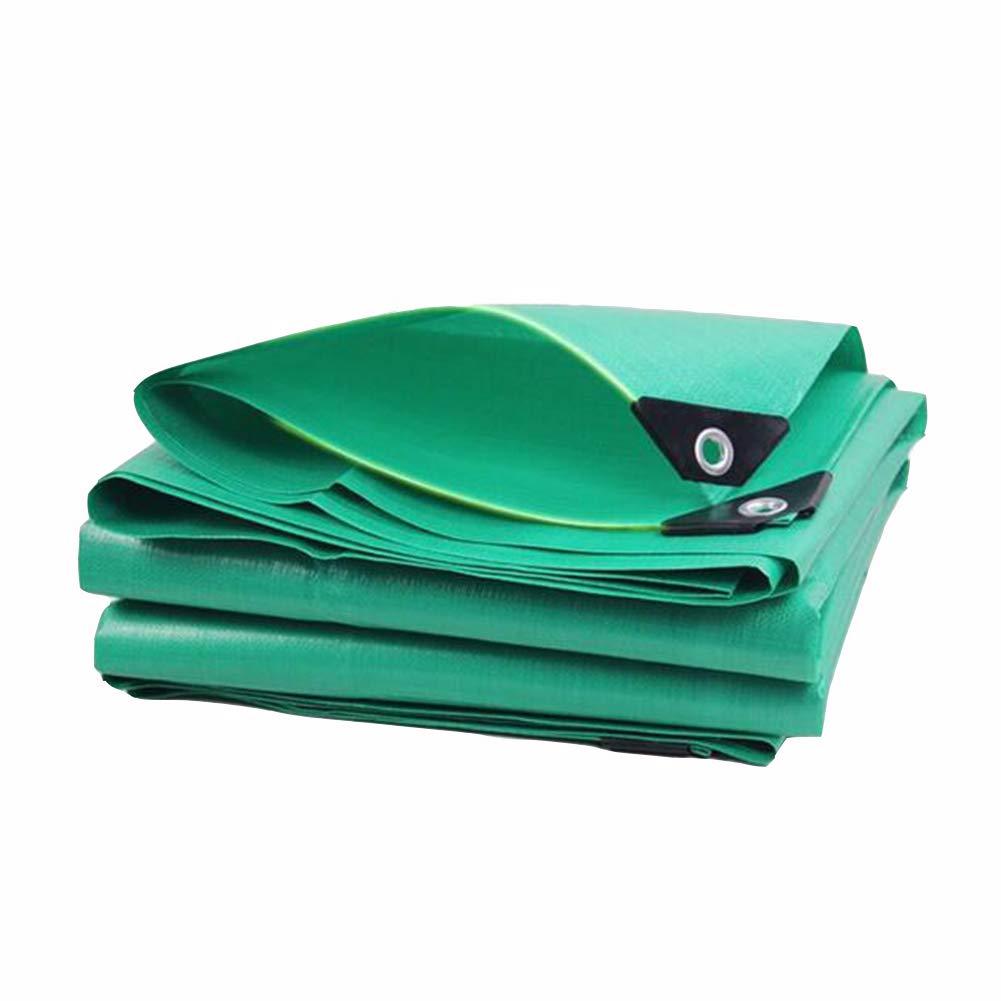 DALL ターポリン タープ アウトドア 日焼け止め シェード 防雨布 防水 抵抗 不凍液 (色 : 緑, サイズ さいず : 6×12m) 6×12m 緑 B07KXFQK4X