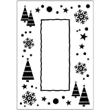 Embossing - CTFD3036 - Crafts Too Embossing Folder - Let It Snow Frame CTFD3036