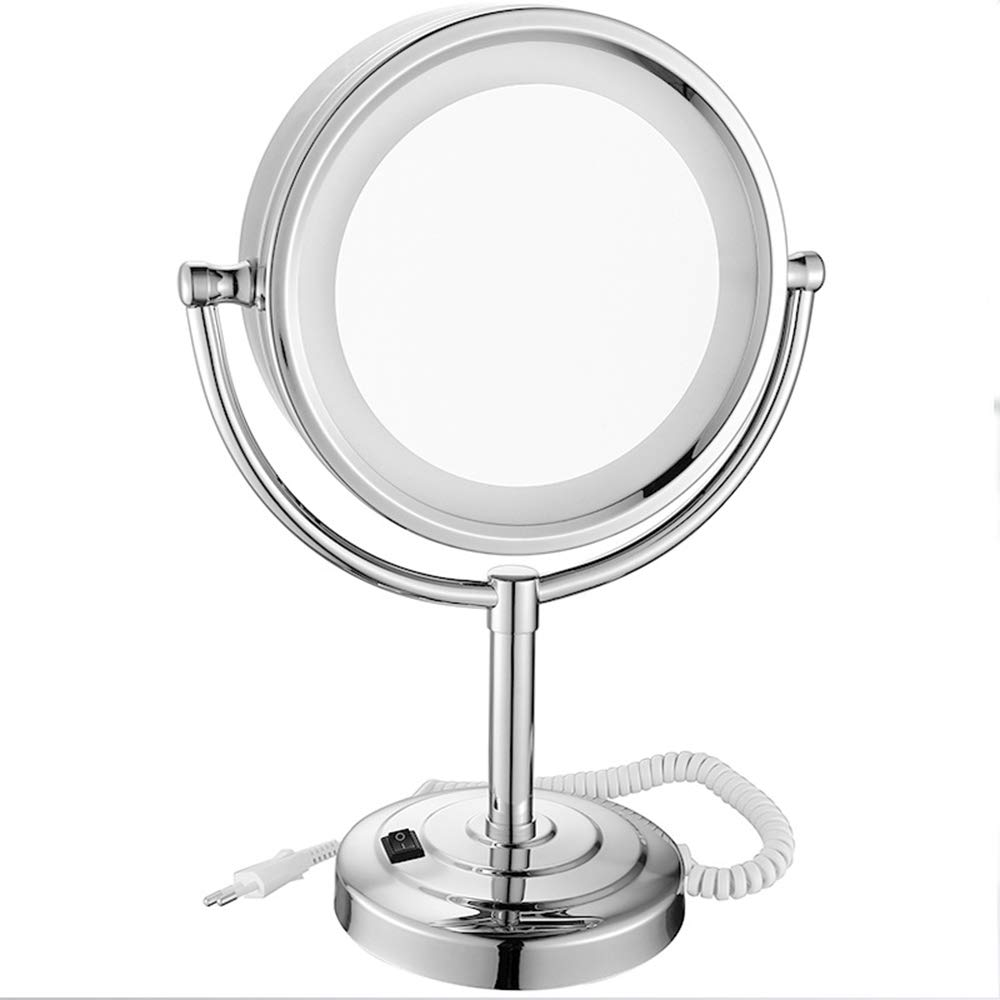 WaLizHb Makeup Mirror LED Desktop European Lamp with Mirror Double-Sided Table Lamp Magnifying Glass 10 Times, HD Mirror, Multi-Magnification, LED Design by WaLizHb