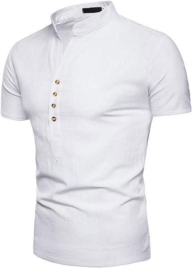 Polos Manga Corta Hombre Manga Corta Básico Polo con Botones Camisa Hawaiana Hombre Camiseta Fruta Floral Estampado Formales Tops: Amazon.es: Ropa y accesorios