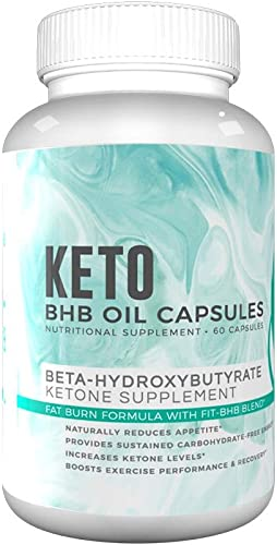 Fitoru Keto BHB Capsules Support Healthy Ketosis, Improve Mental Performance, Increase Energy with 100 GMO Free, Ultra-Premium BHB Powder Capsules