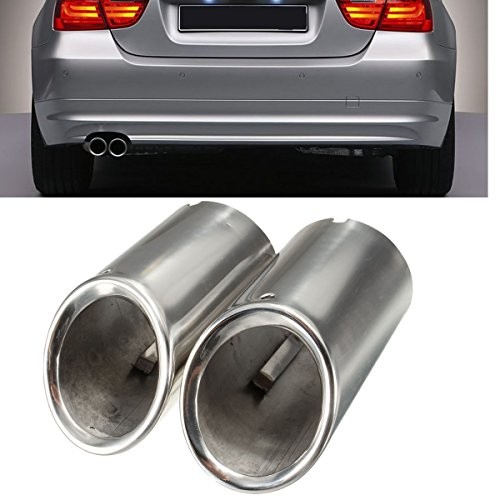 Exhaust Muffler Design - Funnytoday365 2Pcs Set Muffler Exhaust Tail Pipe Tip Chrome For Bmw E90 E92 325I 328I 3 Series 2006-2010