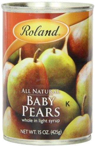 Roland Foods Baby Pears, Whole in Light Syrup, 15 Ounce (Pack of (Pear Syrup)