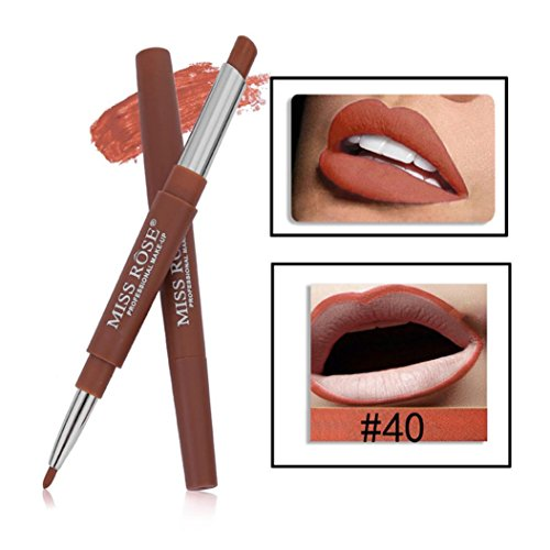 Miss Rose Double-end Lasting Lipliner Waterproof Lip Liner Stick Pencil 14 Color (#40)
