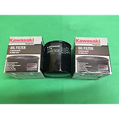 NEW OEM KAWASAKI OIL FILTER 49065-7010 REPLACES 49065-2078 - 2 Pack .#GH45843 3468-T34562FD26810 : Garden & Outdoor