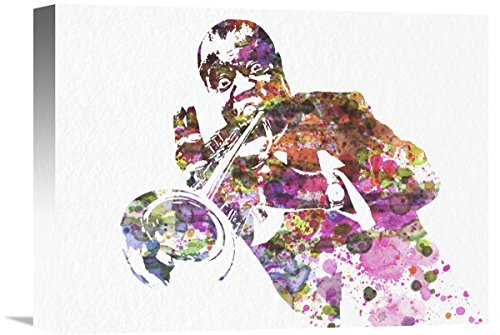 "Naxart Studio ""Louis Armstrong 2"" Giclee on canvas, 16"" by 1.5"" by 12"" from Naxart Studio"