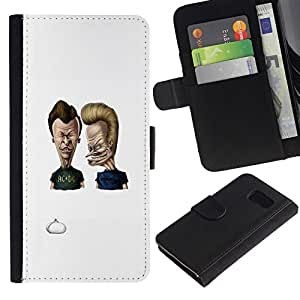 All Phone Most Case / Oferta Especial Cáscara Funda de cuero Monedero Cubierta de proteccion Caso / Wallet Case for Samsung Galaxy S6 // Acdc Beavis & Butt