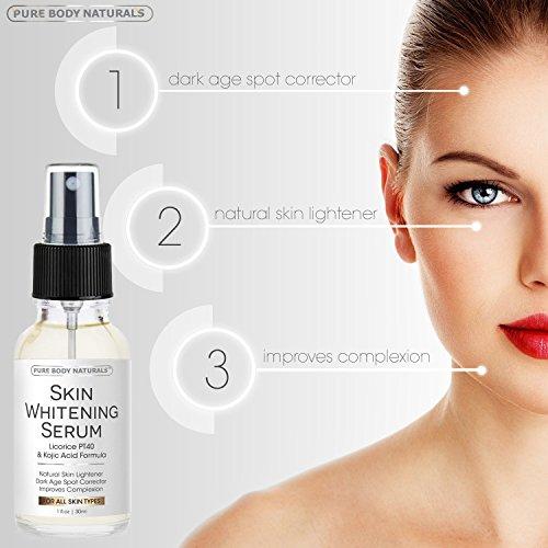 Amazon.com: Suero Aclarador De La Piel - Tratamiento Natural Para Aclarar El Rostro Y La Piel: Beauty