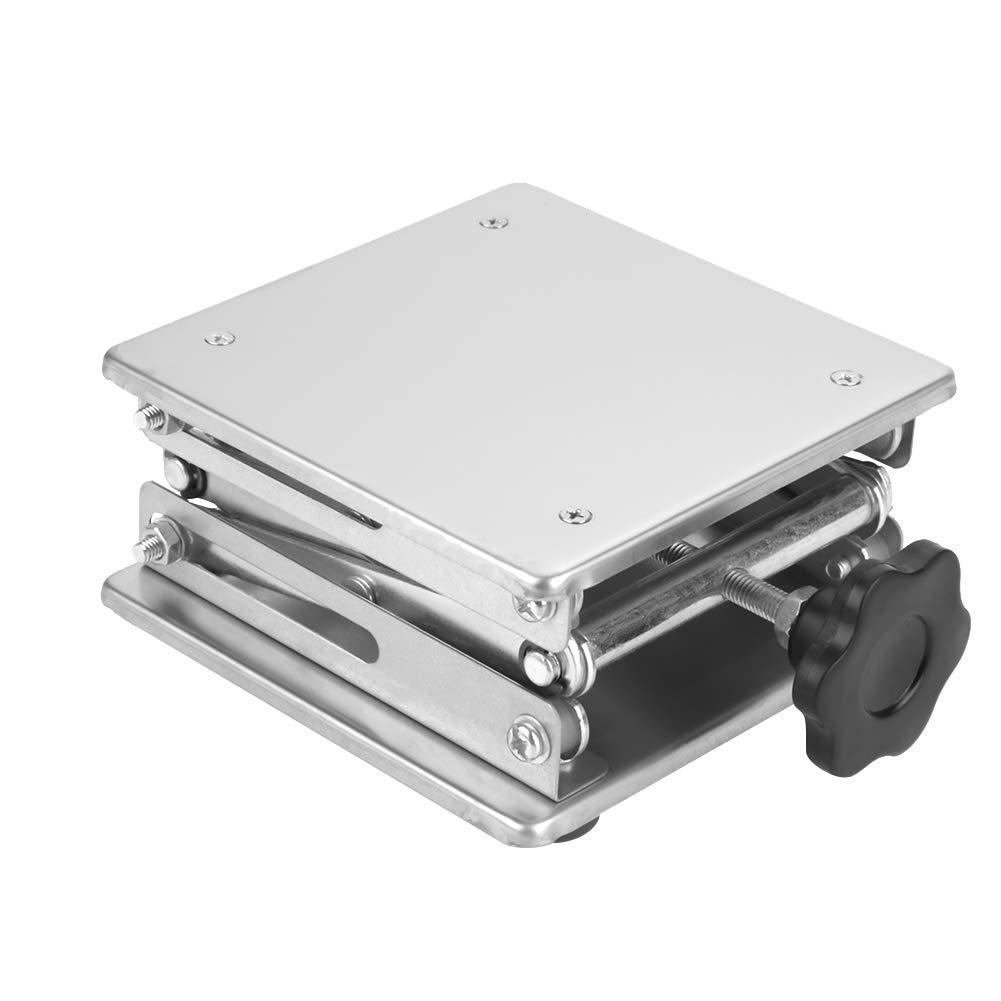 Stainless Steel LaboratoryScissorJackLiftTable, 150x150x250mm ScientificLabJack LiftingStandforLaboratories