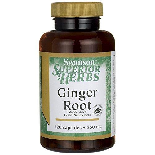 Swanson Ginger Root (Standardized) 250 Milligrams 120 Capsules