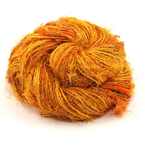 Darn Good Yarn, Gumball Sport Weight Silk Yarn, 100 Yards, Sunflower, 100 Grams, 1 Skein