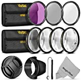 67mm Vivitar Professional UV CPL FLD Lens Filter and Close-Up Macro Accessory Kit for Lenses with a 67mm Filter Size