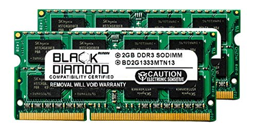 4GB 2X2GB RAM Memory for eMachines E Laptop E527-2537 Black Diamond Memory Module DDR3 SO-DIMM 204pin PC3-10600 1333MHz Upgrade
