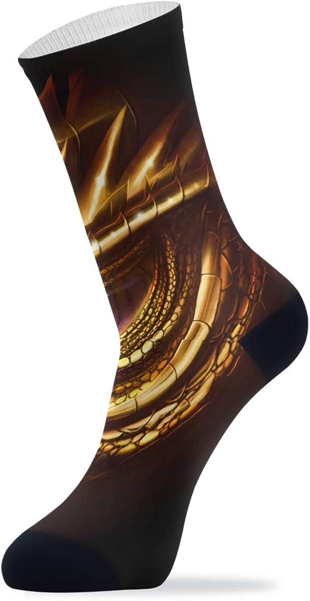 Eye Of Golden Dragon Cool Amazing Athletic Crew Socks Cushion Running Socks for Women Men Sport Wicking