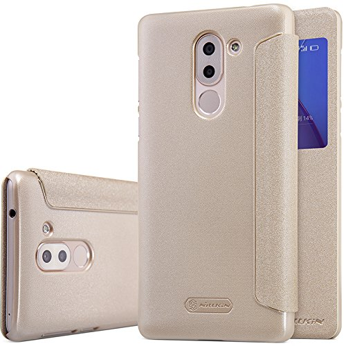Huawei Honor 6X Case, LWGONNillkin Sparkle Leather Smart View Window Smart Sleep Wake Protection Cover Case for Huawei Honor 6X (sparkle gold) - Phone Cover Huawei Windows Phone