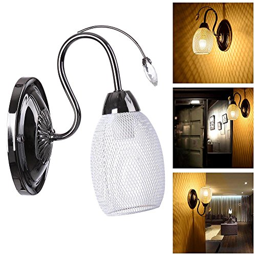 Yescom Retro Wall Mounted Sconce Chandelier Crystal Mesh Celling Pendant Lamp Light Fixture