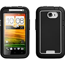 Case-Mate CM021279 Phantom Case for HTC One X - 1 Pack - Carrying Case - Retail Packaging - Black/White