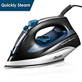 DECEN Iron, Professional Steam Iron, Clothes Iron with Variable Temperature and Steam Control, Compact Irons 1400W, Stainless Steel Soleplate Garment Steamer