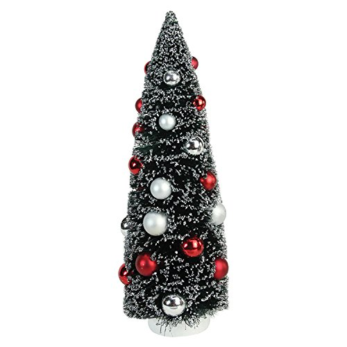 "Northlight 15"" Frosted Red and Silver Sisal Pine Artificial Christmas Table Top Tree"