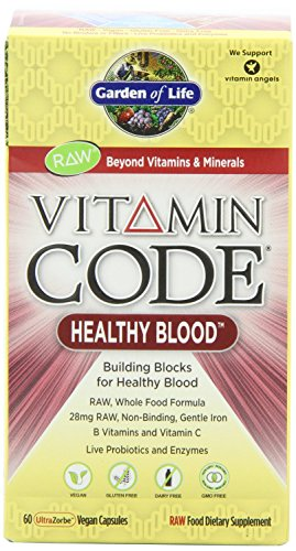 Garden Of Life Vitamin Code Raw Healthy Blood, 120 Capsules