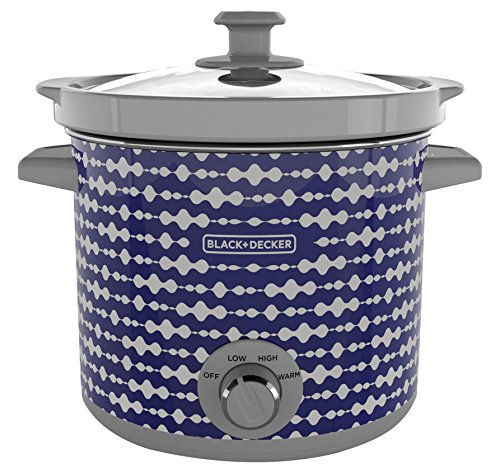 BLACK+DECKER SC2004D 4 Quart Dial Control Slow Cooker with Built in Lid Holder, Purple Pulse