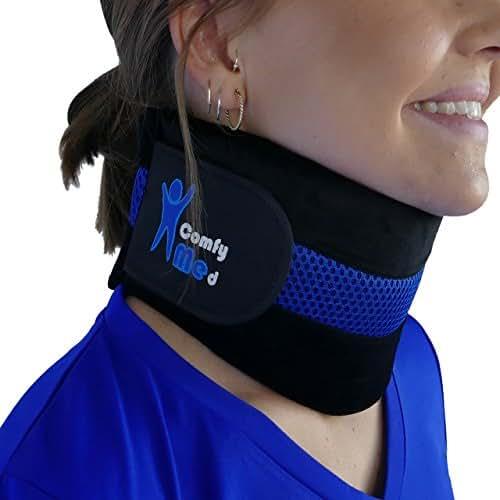 ComfyMed® Neck Brace CM-NB18 Cervical Neck Support Collar for Men and Women (LGE (15