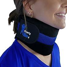"ComfyMed Neck Brace CM-NB18 Cervical Neck Support Collar for Men and Women (LGE 15"" to 18"")"