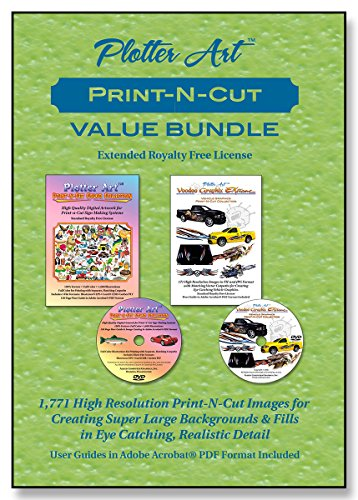 Plotter ArtTM Print-N-Cut Value Bundle, 1,771 Print-N-Cut Clip Art Images on 2 DVD-ROMs with PDF User Guides & Image Galleries. Extended Royalty Free License. (Dog Clipart Images)