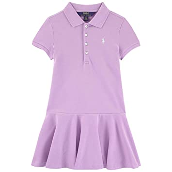 1f9a76905 Image Unavailable. Image not available for. Color: Ralph Lauren Girls  Purple Polo Dress ...