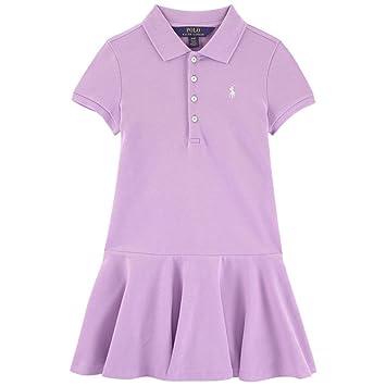 314d2682 Amazon.com: Ralph Lauren Girls Purple Polo Dress (Xtra Large 16): Baby