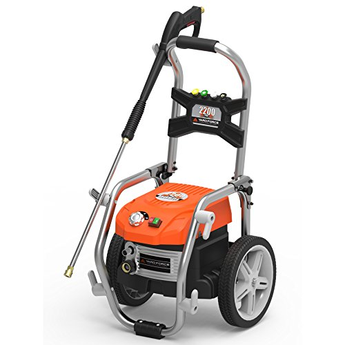 2200psi 19u0022 Brushless Electric Pressure Washer With Adjustable Pressure And Turbo Nozzle - Yard Force
