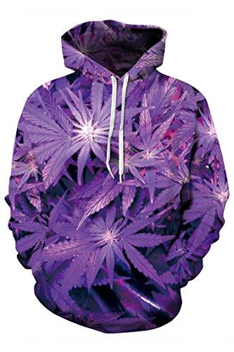 Timemory Unisex 3D Plant Big Pockets Drawstring Hoodie Sweatshirt XXXL Print #10 (Santa Hoodie)