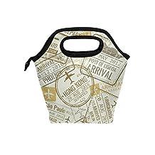 Saobao - Bolsa de almuerzo con sellos para pasaporte, bolsa de almuerzo, contenedor de alimentos, bolsa de refrigeración, bolsa de refrigeración para escuela, oficina, viajes, al aire última intervensión