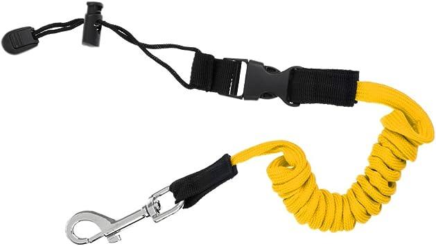 Sharplace Cuerda de Seguridad en Espiral Paddle Leash para Remos de Kayak Caña de Pesca