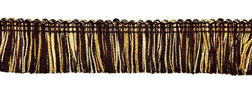 Black Brush Fringe (DecoPro 5 Yard Value Pack - Gold, Black 1 1/4