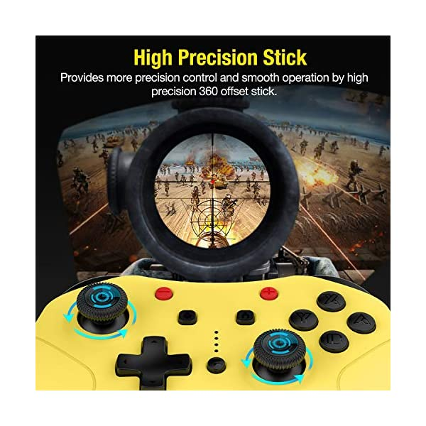 Switch Controller for Nintendo Switch/Switch Lite, Switch Pro Controller with Turbo Function Switch Wireless Controller… 3