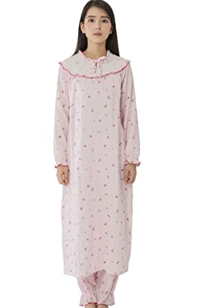 ac4d13ca5c8 BEARSLAND Women's Maternity Lace Neck and Printed Breastfeeding Robe ...