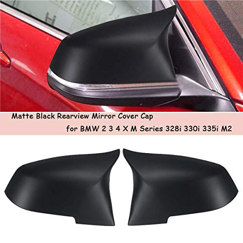 Pair Matte Black Car Rear View Mirror Cover Cap for for sale  Delivered anywhere in USA