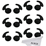 ALXCD Ear Tips for Galaxy S7, Sport Ear Tips,6 Pair Black Anti-Slip Silicone Replacement Ear Tips for S7edge S7 S6edge, Samsung Level U EO-BG920 Bluetooth Earphone [Sport] (Black 6 Pair)