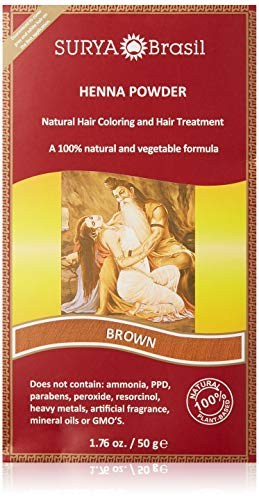 - Surya Brasil Products Henna Powder, Brown, 1.76 Ounce
