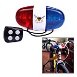 Itian Bike LED Light Cycling Bike Electric Horn 4 Sounds 6 LED Cycling Police Siren Electric Lights Bike Equipment Accessories