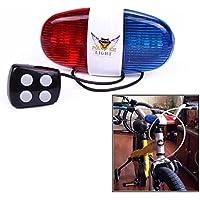 Mini Hornit Vélo Cycle Scooter Bell Hooter Horn light Sirène 25 sons rouge//bleu