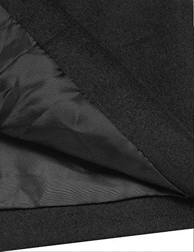 Long Manteau Femme Rabattu Bouton Noir Veste Hiver Classique XXL S Blouson Unibelle Col 54UdqOU