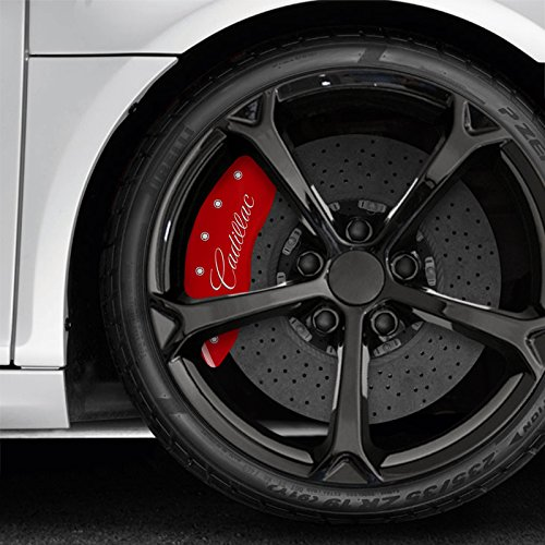 Red Caliper Covers For 2008-2017 Cadillac CTS RWD/AWD by (Cadillac Cts Awd)
