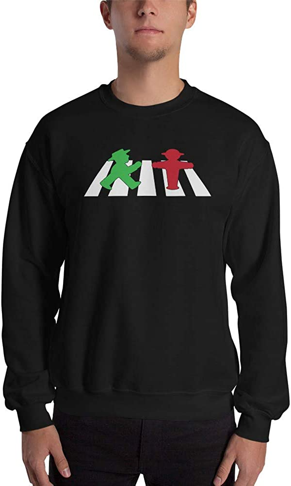 ampelmannchen on Crosswalk Unisex Sweatshirt