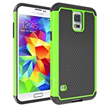 S5 Case Samsung S5 neo cases Armor Dirtproof Case Dual Layer Shockproof Impact Resist Rugged Case Cover Black Green