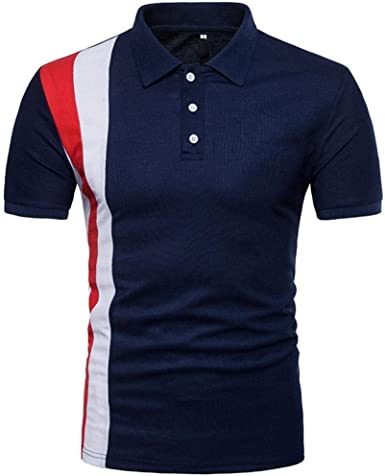 Camisa De Verano para Hombre Camisa De Verano Polo De Ropa Moda Camisa De Béisbol De Manga Corta con Cuello En Remie: Amazon.es: Ropa y accesorios