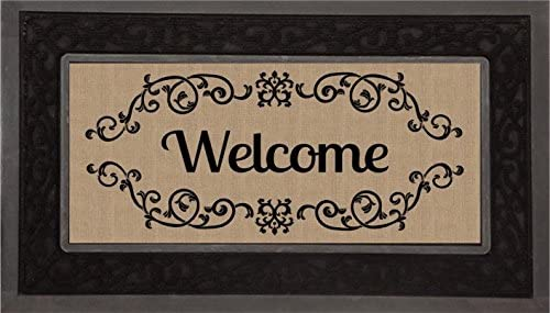 Evergreen Sassafras Mat Set, Mat Size 10×22 Inches, Scroll Mat Fram Size 18×30 Inches, Welcome Scroll
