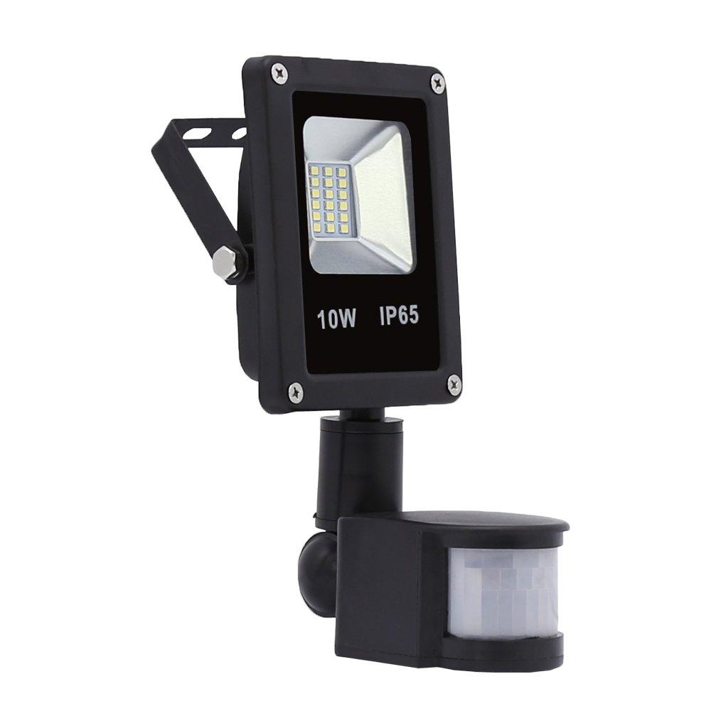 Hengda® 10W Blanco Cálido Foco proyector Exterior LED detección de movimiento PIR sensor Resistente al agua con Sensor LED IP65: Amazon.es: Iluminación