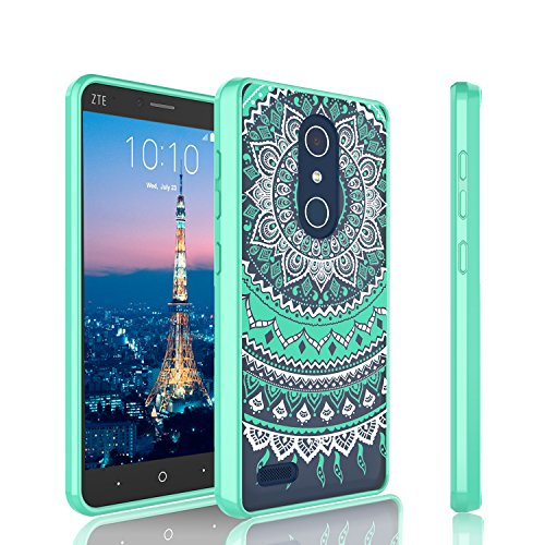 ZTE Blade X Max Case For Girls, Tinysaturn [YCoral Series] [Emerald] Transparent Cute Adorable Ultra Slim Clear TPU Bumper Scratch Resistance Armor Defender Case Cover For ZTE Blade X Max Z983